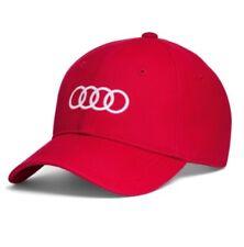 Original Audi Capuchon Rouge 55-59 cm Casquette de Baseball Anneaux