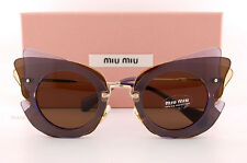 Brand New Miu Miu Sunglasses MU 02SS VA6 8C1  Lilac Yellow/Brown Women