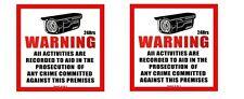 2pcs Surveillance Plastic Sign CCTV Warning Security Audio Video Camera