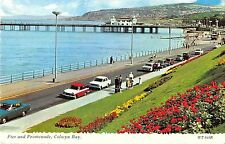 BR67049 pier and promenade car voiture  colwyn bay wales  14x9cm