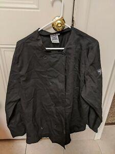 Chef Revival 24/7 Large Black Long Sleeve Chef Jacket