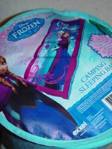 "Disney Frozen Camping Sleeping Bag  Elsa & Anna New 28"" x 56""  Full Length"