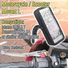 Motorcycle Scooter Mount Holder iPhone X 10 8 7 6s Samsung S3 S4 Water Resistant