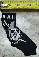 "OAKLAND RAIDERS 4.25"" Raider Nation California State ~Iron/Sew On Patch~"