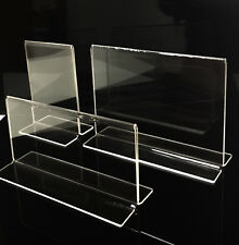 3mm 3x T-Shape Acrylic Sign Acrylic sign holders Menu holders Brochure holders