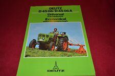 Deutz D 45 06 Tractor Dealer's Brochure YABE15