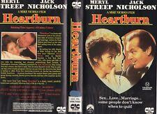 HEARTBURN - Jack Nicholson -VHS - PAL -NEW - Never played! - Original Oz release