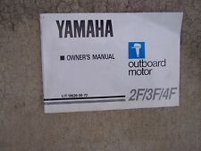 1988 Yamaha Outboard Motor 2F 3F 4F Owner Manual MORE MANUALS IN OUR STORE   S