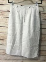 Career Womens Size Small Beige Skirt A-Line Lined Business Wear