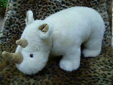 Gund Sherman RHINOCEROS Rhino Plush Stuffed Animal ~ White Vintage 1988