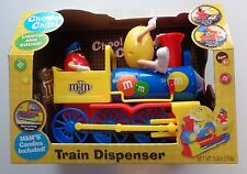 M&M's TRAIN Candy Dispenser Lights and Choo Choo Sound NIB RARE From 2013 Works