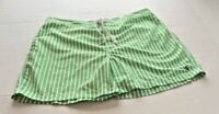 Polo by Ralph Lauren Women's Shorts Size XL Green/White Stripes Pockets Zipper