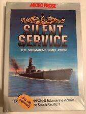 Silent Service The Submarine Simulation Commodore 64 Atari