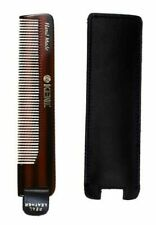 Kent NU22 122mm Mens Fine Toothed Non Scratch Hair Comb in Leather Case