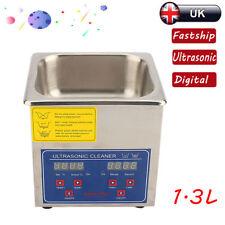 1.3l Digital Ultrasonic Cleaner Ultra Sonic Bath Timer Cleaning Tank Heater