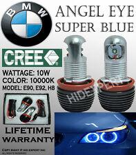 TMZ 1pair CREE LED BMW E92 H8 20W 6000K Blue Angle Eyes Halo Ring Light D5568