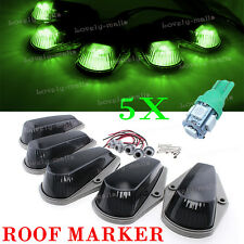 5X Cab Roof Marker Running Lamps LED Light Truck 168 T10 196 Green For Ford F150