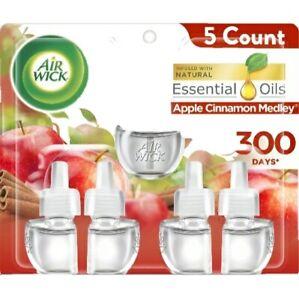 Air Wick Apple Cinnamon Medley Scent Essential Oils 5 Count Refills