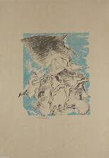 "Lithography lithographie Litografia BUSCIONI Umberto ""ANATEMA"" firmata P.d.A."