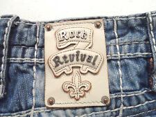 Rock Revival Men's Frido Boot Jeans Size 32x30 Thick Stitch Distressed Denim