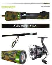 kit canna + mulinello spinning skinny 0/10g pesca trota lago light rock fishing