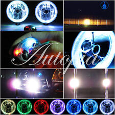 """5"""" Inch Universal Motorcycle Fog Driving Lights Lamps White Halo Ccfl Kit Y4"""