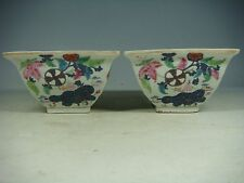 beautiful chinese export tobacco leaf porcelain bowls