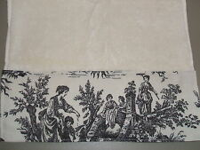 CREAM HAND TOWELS Waverly Black Cream French Country Life Toile Bathroom