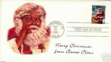 COVERSCAPE computer generated Santa Claus Christmas FDC