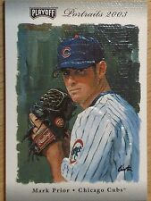 MARK PRIOR 2003 PLAYOFF PORTRAITS -  GAME WORN JERSEY & GAME USED BAT  #23/25