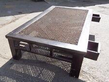 HUGE Vintage OPIUM Day Bed BURMESE Shanxi Chinese Rattan Rustic COFFEE Table