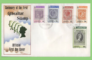 Gibraltar 1986 Stamp Centenary set on First Day Cover