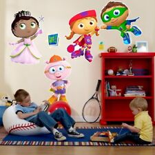 "Heavy Duty Vinyl Super Why Giant Wall Decals Room Decor - 4 Pieces 27"" High"