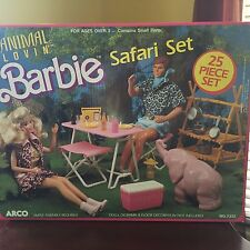 EXTREMELY RARE 1988 VINTAGE BARBIE ANIMAL LOVIN' SAFARI SET 1988 MINT A++