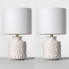 OPALHOUSE   Set of 2 Ceramic Table Lamps White   🆕