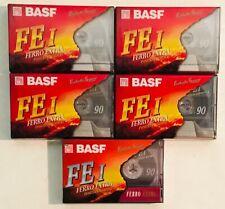 BASF FEI ferro extra 90 minutes lot of 5 BLANK CASSETTE TAPE (factory sealed)