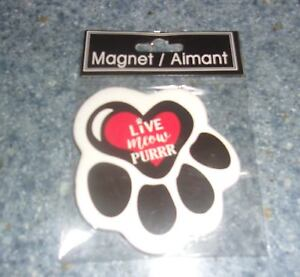 Brand New Ceramic Cat Paw Design Live Meow Purr Magnet For Dog Rescue Charity