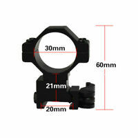 "Quick Release 30mm/25mm 1"" Rings for 20mm Weaver/picatinny Rail Scope Mount QD"