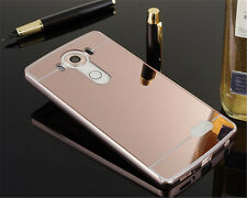Ultra-Thin Aluminum Metal Frame Case Mirror Back Cover For LG G2 G3 G4 G5 D680