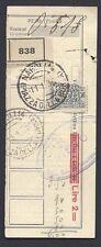STORIA POSTALE Regno 1936 Ricevuta pacchi con FB Assicurativo (FSE)