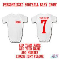 Personalised England 2019 Football Baby GrowFootball Baby RomperWorld Cup