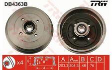 2x TRW Tambour de frein Arrière pour RENAULT CLIO MODUS DB4363B - Mister Auto