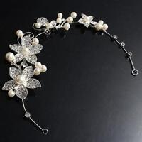 Adjustable Tiara Rhinestone Flower Bridal Headband Hair Band Wedding's Jewelry