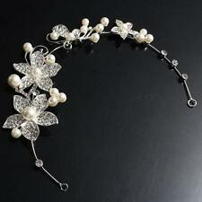 Adjustable Tiara Rhinestone Flower Bridal Headband Hair Band Wedding Jewelry