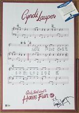 CYNDI LAUPER SIGNED POSTER BECKETT BAS COA AUTOGRAPHED ROCK MUSIC SINGER CINDY