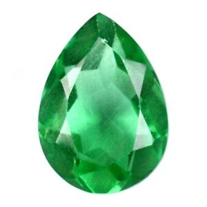 Certified 7x5MM Natural Emerald Faceted Pear Gemstone Loose Emerald PEAR Faceted gemstone AAA Quality Emerald Price Per Peice