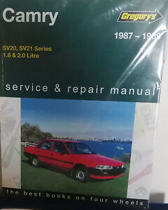 Toyota Camry SV20 & SV21 1.8 & 2.0L Workshop Repair Manual with MPN GAP04244