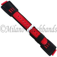 16mm Speidel Red And Black Thick G-Shock Replacement Mens Sports Watch Band 5167