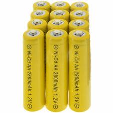 12x AA battery batteries Bulk Nickel Cadmium 2A Rechargeable NI-Cd 2800mAh 1.2V