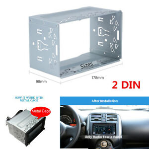 Universal Car Radio Frame Fascia Plate DVD Player Mount Install Dash Bezel 2 DIN